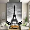 Пользовательские 3D Wall Mural Photo Wallpaper Эйфелева башня Париж-Сити Ностальгия Серые стены Контактная бумага для гостиной Телевизор Диван-фон