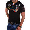 Plus Size Men's Fashion Personality Cultivating Short-sleeved T-Shirts S-4XL cc0113 s 4xl