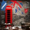 Фото Пользовательские обои для фото 3D Vintage London Street Wall Mural Ресторан Кафе Гостиная Диван Заставка Mural Нетканые настенные обои family wall quote removable wall stickers home decal art mural