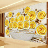 Пользовательские 3D-обои Гостиная Диван ТВ Фон Большой Стены Картина Стерео Рельеф Роза Цветочная Mural Обои для Стены 3 D пользовательские 3d росписи большие фрески 3d ложное окно за пределами стены сада обои гостиная роза цветы wallparer mural