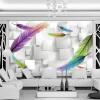 Модный перо Простой 3D-фон Настенная панно Современная гостиная Ресторан Изучение интерьера Декор Обои Papel De Parede 3D 3d обои цвет деревянная доска современный интерьер простой декор стена картина детская комната гостиная фон настенная панно papel tapiz