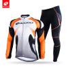 NUCKILY Зимняя дорожная одежда для велосипеда с подогревом для велосипеда Джерси и эластичные штаны для мужчинNJ528-WNS900-W