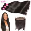 13x4 Lace Frontal with Bundles Перуанские комплекты для волос Virgin Free Бесплатная доставка Свободная часть малайзийская прямая свободная часть 13x4 кружева frontal бесплатная доставка remy hair 100% natural human hai