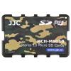 JJC MCH-MSD10YG ультратонкий держатель карты памяти SLR камера держатель карты памяти TF карта цифровая карта памяти упаковка камуфляж зеленый карточный картридж (можно положить 10 MSD / TF карт) футляр для карт памяти jjc mchsdmsd6gr