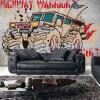 На заказ 3D-роспись 3D ретро железа ноты обои автографы граффити ностальгия роспись KTV Bar Cafe обои фреска