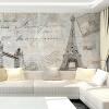 Пользовательские 3d-росписи ТВ фон стена настенная роспись обои нетканые 3D-европейская спальня обои Эйфелева башня пазлы magic pazle объемный 3d пазл эйфелева башня 78x38x35 см