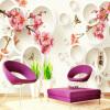 Модный интерьер Цветочный дизайн 3D-стерео-ролик Фото-обои Пользовательская гостиная Спальня Фон Обои на стенах Домашний декор Фреска интерьер и декор