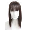 Женщины шелковые синтетические волосы Topper Top Piece Зажим в парикмахерской Toupee Topper Закрытие с челкой логотип для парикмахерской