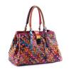 сумка овчины ПУ кожа ручной работы женщин вязание сумка пэчворк сумки женщин известных брендов сумки дизайнер сумочку кожаные сумки женские распродажа женские сумки