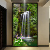 Обои для рабочего стола 3D Обои для стен Водопад Пейзаж Входной зал Проходный фон Стены Картина 3D Тисненые обои Mural декор для стен