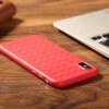 Bangke Ши (Бэнкс) яблоко iPhoneX / 10 телефон случае телефон дышащий защитный чехол все включено мягкая оболочка яблоко X легко плетеный узор тепла телефон корпус красный смартфон телефон защитный чехол красный