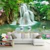 Пользовательские обои для фото обои HD Водопад Река Белый лебедь Зеленое дерево Природа Пастырский пейзаж 3D Mural Обои для стен 3 D обои для стен в нижнем онлайн
