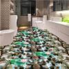 Бесплатная доставка Морской камень галечный лотос carp ванная кухня пол влагостойкой утолщенной гостиной напольная роспись 250cmx200cm ванная