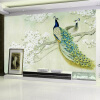Custom Classic Mural 3D Stereo Peacock Wood Fiber Wallpaper Living Room Study Backdrop Landscape Papel De Parede 3D Home Decor европейский стиль vintage wallpaper 3d stereo relief wood fiber mural кофейня ресторан заставка wall creative decor wallpaper