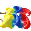 Ручной натуральный шелковый поклонник танца живота 1xleft+правая рука 180x90cm Желтый + Королевский синий + красный ручной пылесос handstick dyson v6 cord free extra sv03 350вт желтый