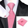 n-0401 Vogue мужчин шелковым галстуком набор розовый твердых галстук платок запонки установить связи для мужчин официальный свадебный бизнес оптом оптом крепление для авторегистратора