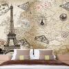 Пользовательская 3d-роспись Пользовательские большие росписи новой парижской башни обои фон обои обои гостиная ретро-роспись пользовательская 3d роспись пользовательские ретро кирпичные обои обои росписи ресторана ресторана ktv обои для рабочего стола