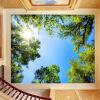Пользовательские обои для рабочего стола Современная зеленая Большая бумага для дерева с деревом Спальня Гостиная Ресторан Ресторан Потолок Фронт Обои европейский ресторан