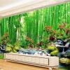 3D Wall Mural Обои Пейзаж Бамбуковый лес Обои для рабочего стола Природные большие фрески Гостиная Пользовательские фотообои на стенах пользовательские обои mural 3d wall mural природные пейзажи водопады и зеленое дерево обои для рабочего стола нетканые настенные пок