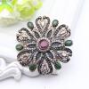 Великолепные бусины из горного хрусталя для женщин Цветочные смолы Кристаллические броши Брошь Турецкие лацканы Hijab Pins Indian бусины для дредов в москве