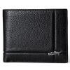 Danjue Для мужчин Женские Кошельки натуральная кожа одноцветное Цвет короткие черные кошелек Высококачественная брендовая одежда к одежда для мужчин