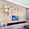 Европейский стиль Роскошные обои 3D-стерео тисненые цветы Mural Living Room TV Диван-фон Стены Бумага Papare De Parede Sala custom tree bark textures wallpaper restaurant living room tv sofa wall background children bedroom 3d mural papel de parede