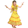 индийский детей костюмы танец живота сценическое живота танец Индии танец Блестками одежда 2 шт./3 шт./ 5 шт. комплект 3 цвета танец живота уроки саломеи сd с видеокурсом