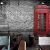 Пользовательский размер Фото Кафе ресторан досуга магазин одежды 3D европейский стиль ретро обои Британская уличная роспись обои
