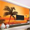 Пользовательские 3D-обои для фотографий Юго-Восточный азиатский стиль Beach Sunset Photography Background Wall Decor Living Room Wall Mural Обои