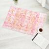 Бай Цзя скандинавские современные минималистские дикие коврики нескользящей перед кухонной двери коврик ванной впитывающий коврик можно стирать в машине серии Spirit House 50 * 80см розовый памяти