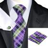 Н-0211 моде мужчины Шелковый галстук набор фиолетовый в полоску галстук платок Запонки набор галстуков для мужчин формальных Свадебный бизнес оптом купить шифер оптом в липецке