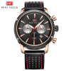 MINI FOCUS Famous Top Brand Men Quartz Watch Leather Sport Men's Wrist Watch MF0010G