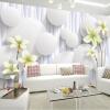 Пользовательские обои для фото Простой 3D-Стерео Большой Mural Современная гостиная Телевизор Заставка Обои для рабочего стола Lily Flower Нетканые обои пользовательские 3d росписи большие стерео 3d нетканые обои