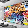 Пользовательские обои для фото Нетканые 3D абстрактные граффити искусства Большая картина стены Гостиная Бар ТВ Фон Обои настенные обои обои граффити где в тольятти