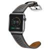 Би Диас (BIAZE) яблоко ремешок часов кожа подходит для Watch1 / Series2 / Series3 сетка отверстие черный пояс 38mm- coteetci w6 luxury stainless steel magnetic watchband for apple watch series 1 series 2 38mm gold