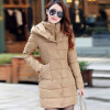 2017 New Winter Coat Long Thick Cotton Padded Jacket Warm Cotton Slim Down Jackets nathalia brodskaya edgar degas