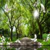 Пользовательские 3d-росписи Дерево зеленое ясное небо фон стена гостиная лобби фоном 3D стерео спальня ресторан обои пользовательские фото обои silent forest ручная роспись фоном гостиная лобби обои спальня ресторан ванная комната mural
