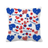 USA Love Heart Flower Festival Pattern Square Throw Pillow Insert Cushion Cover Home Sofa Decor Gift hungary national flag europe country square throw pillow insert cushion cover home sofa decor gift