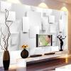 Современная минималистическая трехмерная стереометрия с кубической росписью Обои для рабочего стола для офиса Модные обои для интерьера для стен 3D