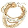 YAZILIND Vogue Плетение цепочки витой браслет многослойных браслет позолоченный ювелирных изделий