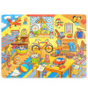 goki Wooden Jigsaw Puzzle with Storage tray (24/48/96pcs and 46/55pcs of 4 layers ) for kids