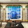 Пользовательские обои для настенной живописи Домашний декор Европейский стиль Римская колонна Жилая комната ТВ-фон 3D-обои для фото Цветочная открытка фон для презентации черный