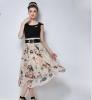 Lovaru ™Органза юбка неправильную станции Европы +2015 летом новые женские юбки печати темперамент юбки argent юбки женские