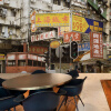 На заказ 3D-роспись Гонконг-стрит Шанхай улица сцена обои чай ресторан кофейня обои настенная роспись ресторан кофейня