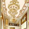 Настроить 3D-роспись стола Европейский стиль Современные роскошные потолочные фрески Гостиничный зал Постельные принадлежности Зал Home Decor Wall Wall бар потолочные фрески