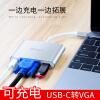 Striker Type-C для VGA конвертер подходящего для Apple, аксессуары для ноутбуков Нового MacBookPro USB-C Type-C адаптер поворот VGA + USB3.0 многопортовый адаптер apple usb c vga