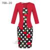 Женская рабочая одежда Longsleeve Весна новая европейская станция сетки Карандаш юбка поддельные два Профессиональное платье L13