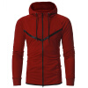 2017 Autumn and Winter New Arrival Men's Sports Hoodie Casual Cultivation Zippers Hooded Cardigan Sweatshirts