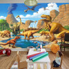 Пользовательские обои 3D Mural Обои Lakefront Dinosaur Tyrannosaurus Rex Детская комната Спальня Фотография Фон 3D Дети Обои surpresa v tyrannosaurus rex dinosaur toy collection learning