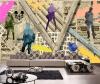 Пользовательские 3d росписи ретро большой росписи 3D дерево кирпичный узор обои личность бар гостиная диван фон обои фрески бар потолочные фрески